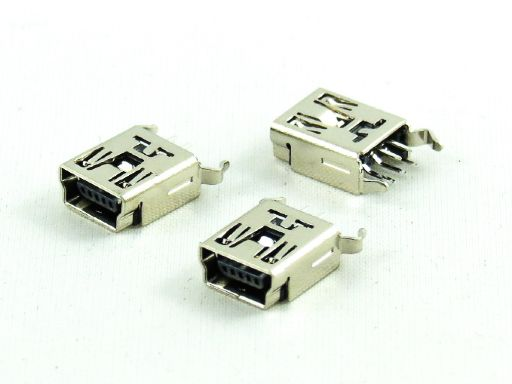 8969-B05C00SBA | Mini USB B Type 5P Straight Female