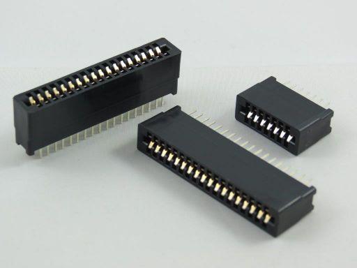 8006 | 2.54mm Edge Connector Straight Type Phrosphor Bronze