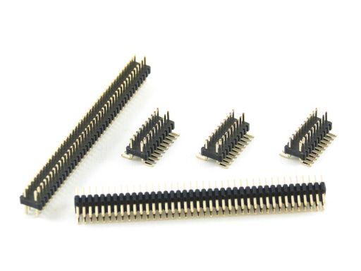 2211-2   Pin Header 1.27mmX2.54 mm Insulator 1.7mm