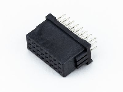 9114-D3S24CB30 | Type D Signal Female Vertical Press fit