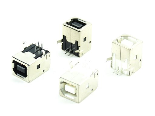 8968-B04C | USB 2.0 B Receptacle  Right Angle Through hole