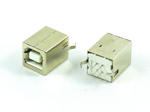 8968-B04C | USB 2.0 B Receptacle  Vertical Through hole
