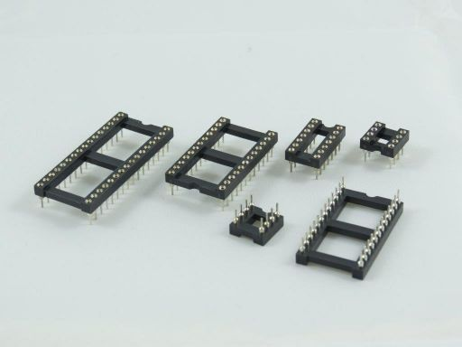 8004 | Machine Pin IC Socket 2.54mm